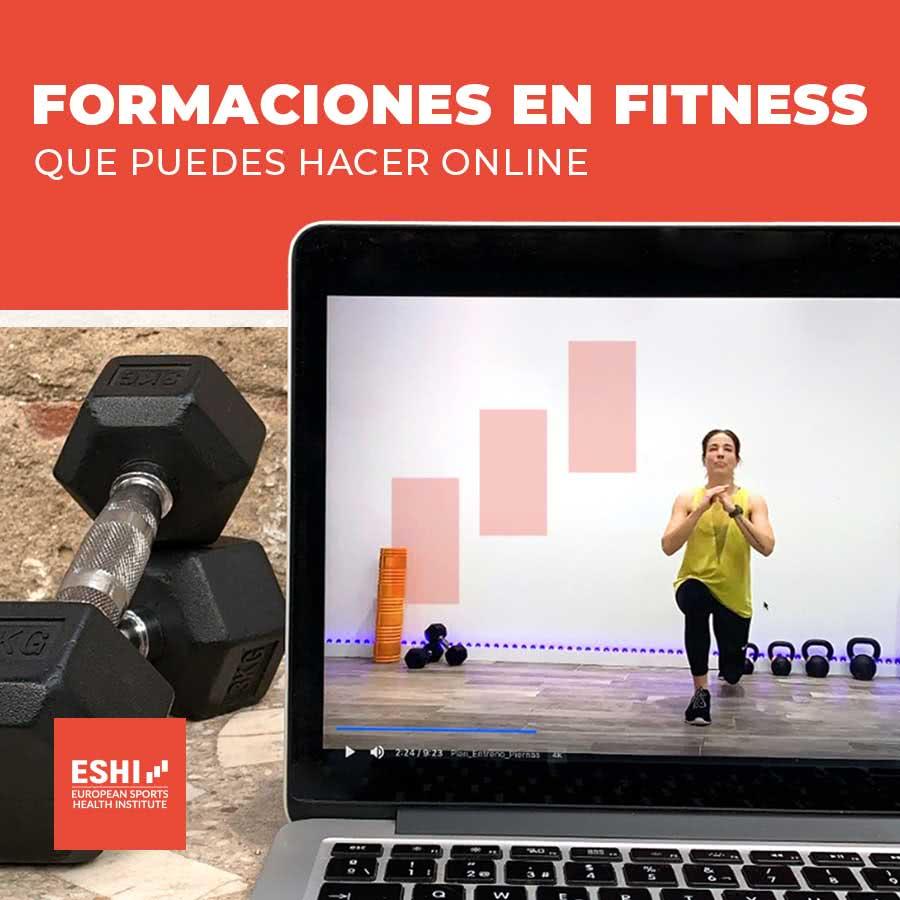 Formaciones en fitness que puedes hacer online
