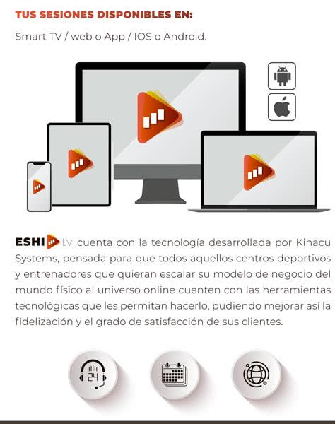 ESHI TV es accesible desde cualquier plataforma y cualquier lugar del mundo