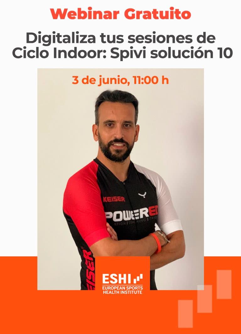 """Webinar gratuito """"Digitaliza tus sesiones Ciclo Indoor: Spivi solución 10"""""""