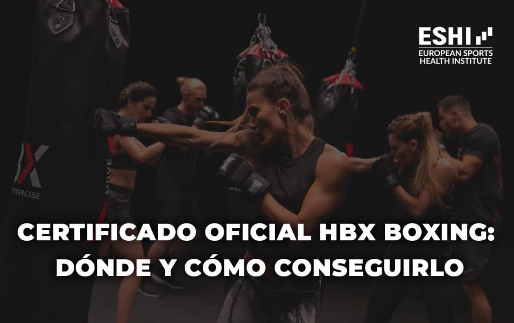 Certificado oficial HBX Boxing